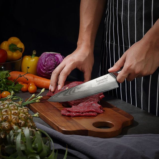Sunnecko 8 Inch Damascus Steel Chef knife 5