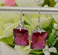 The next 2015 years the global hot Korea jewelry exquisite high-end ruby18 k gold 925 sterling silver earrings