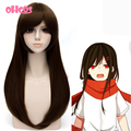 OHCOS  Touhou Project Character Ayano Tateyama 60CM Long Straight Golden Brown Hair Cosplay Wig