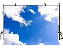 150x220cm Sky Backdrop Blue and White Clouds Minimalistic Photography Background for Camera Photo Props