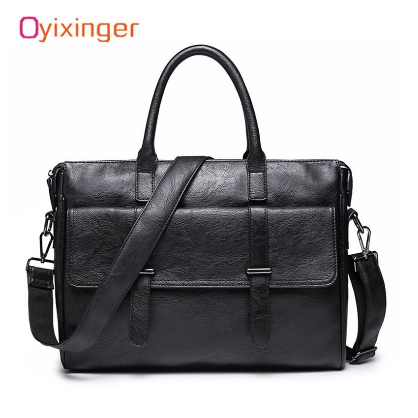 Male Laptop Man Bag Briefcase Fashion Men's Business Bags Genuine Leather Messenger Bag For Men Office Work Package Bolso Hombre