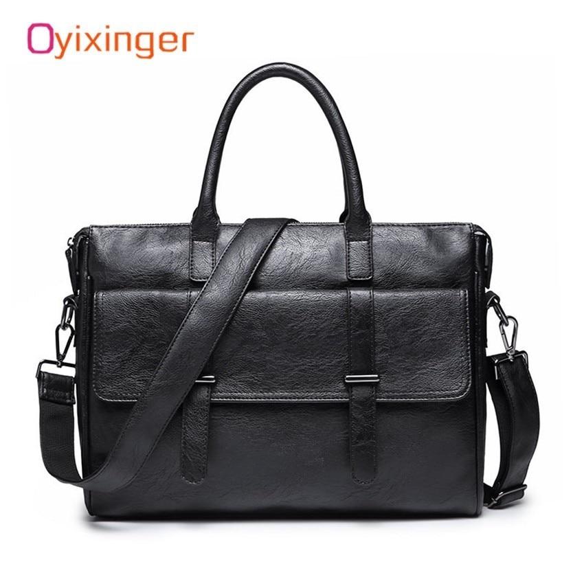 Man Bag Briefcase Fashion Men's Business Bags Male Laptop Handbag Leather Messenger Bag For Men Office Work Bag Bolso Hombre Sac