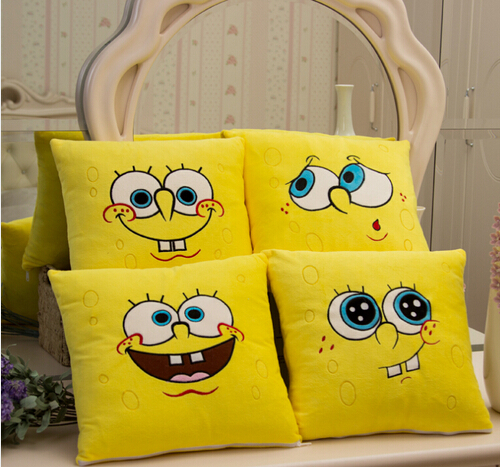 Image 2 - 1pcs 34*34cm Cartoon Sponge Bob Plush toys Soft Spongebob Pillow Cushion  Four models Can be Selected  Kids Toys-in Stuffed & Plush Animals from Toys & Hobbies
