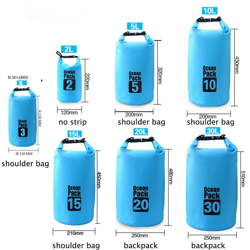 4be1573501c 10L agua resistente impermeable saco seco almacenamiento paquete bolsa de  natación al aire libre kayak piragüismo