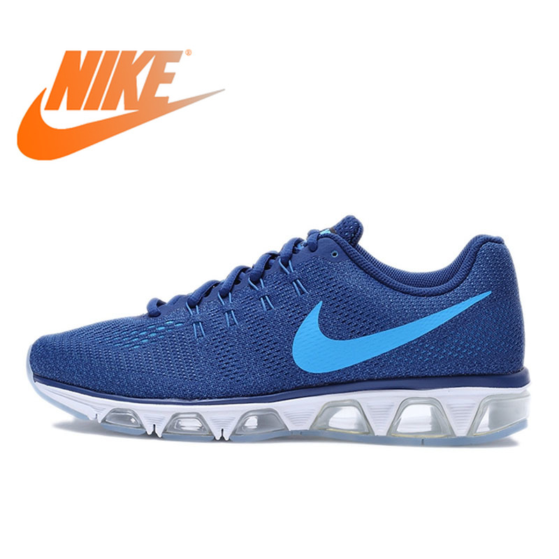 Original Official NIKE AIR MAX Men's Whole Palm Cushion Running Shoes Breathable Sneakers Blue Outdoor Walking Jogging Durable
