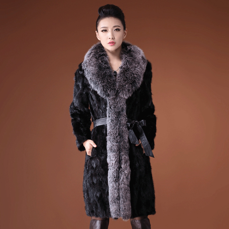 Ostrich Feathers Turkey Feather Long Sleeves Faux Fur Coat Free Shipping New High End Women S