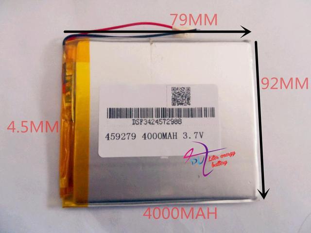 best battery brand 3.7v polymer lithium battery 458097 handheld computer tablet gps battery(4000mah)