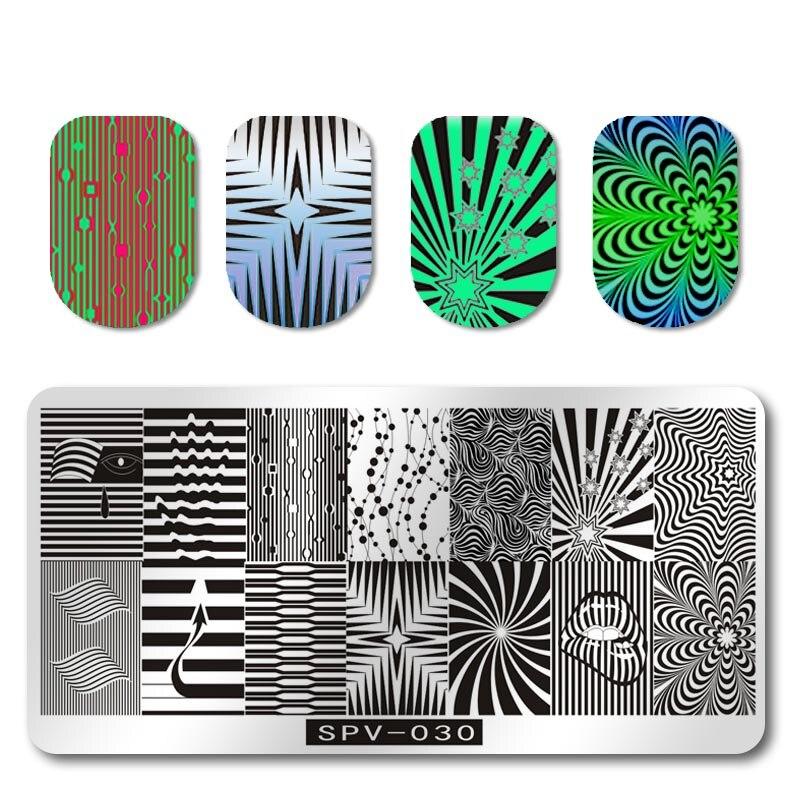 Schönheit & Gesundheit Nails Art & Werkzeuge 1 Pcs Spv-030 Edelstahl Bild Nagel Stanzen Platten Stanzen Nail Art Polnischen Maniküre Vorlage Nagel Briefmarken Werkzeuge