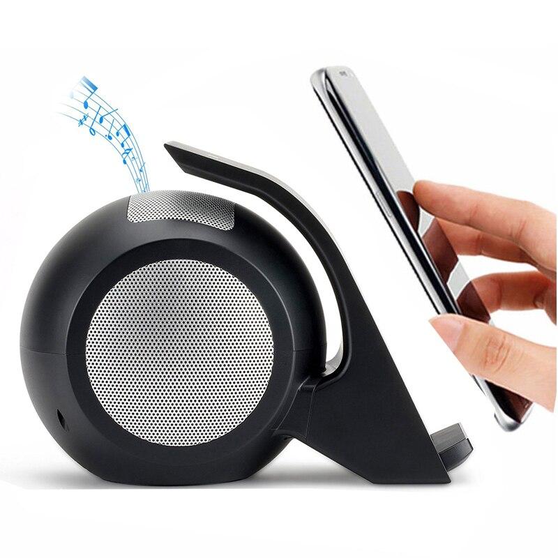 Tragbare Bluetooth Lautsprecher Drahtlose Ladegerät Mini Stereo Sound Lautsprecher Telefon Halter Drahtlose Lade Sitz Für Smartphone Lautsprecher