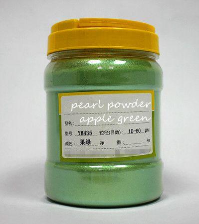 500 г бесплатно фиолетовый цвет натуральная минеральная пудра MICA порошок сделай сам для мыла краситель для мыла макияж тени для век порошок пигмент для окрашивания автомобиля - Цвет: apple green