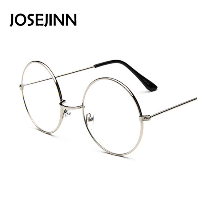 Vintage Glasses Frame Plain Round Metal Optical Frame For men/women Eyeglass Clear Lens oculos