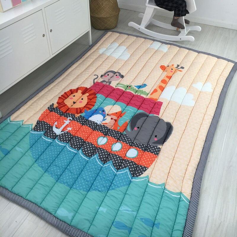 Детские блестящие утолщение детские игровые коврики 195x145 см Нескользящие ковер татами гостиная дети шерстяное одеяло для спальни большие к...