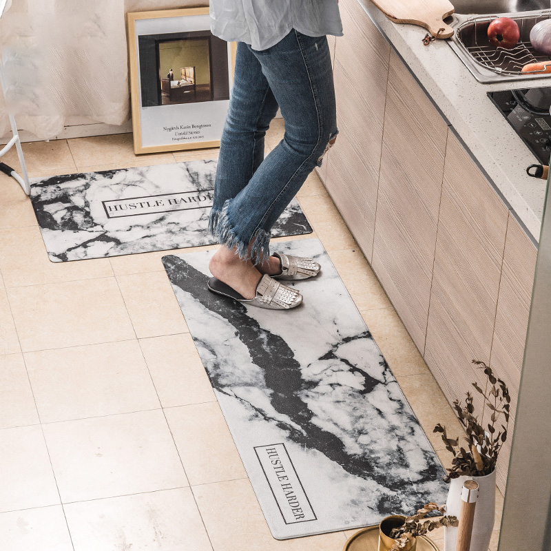 New Fashion Modern PVC Door Mat Soft Delicate Kitchen Mat Home Carpets For Living Room Bedroom