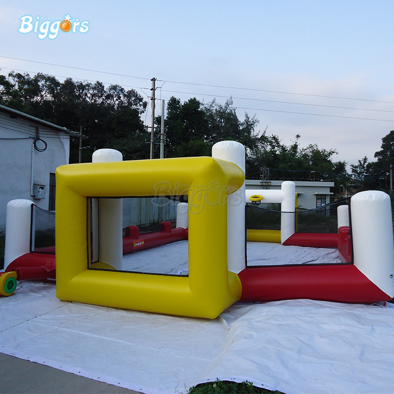 Outdoor Inflatable Soccer Field Inflatable Football Pitch Inflatable Football Arena Inflatable Soccer Court mzqm inflatable soccer shootout football inflatable football toss game high quality outdoor game inflatable goal for football