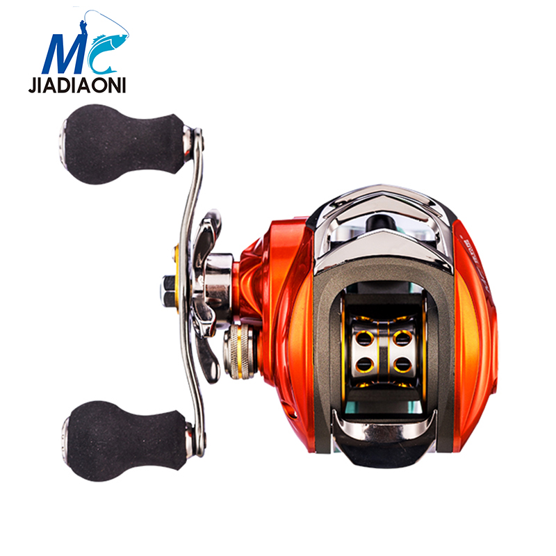 JIADIAONI High Speed 6:3:1 Baitcasting Reel 10+1 BBs Spinning Reel Drag Power Right/Left Handed Water Drop wheel Fishing Reel