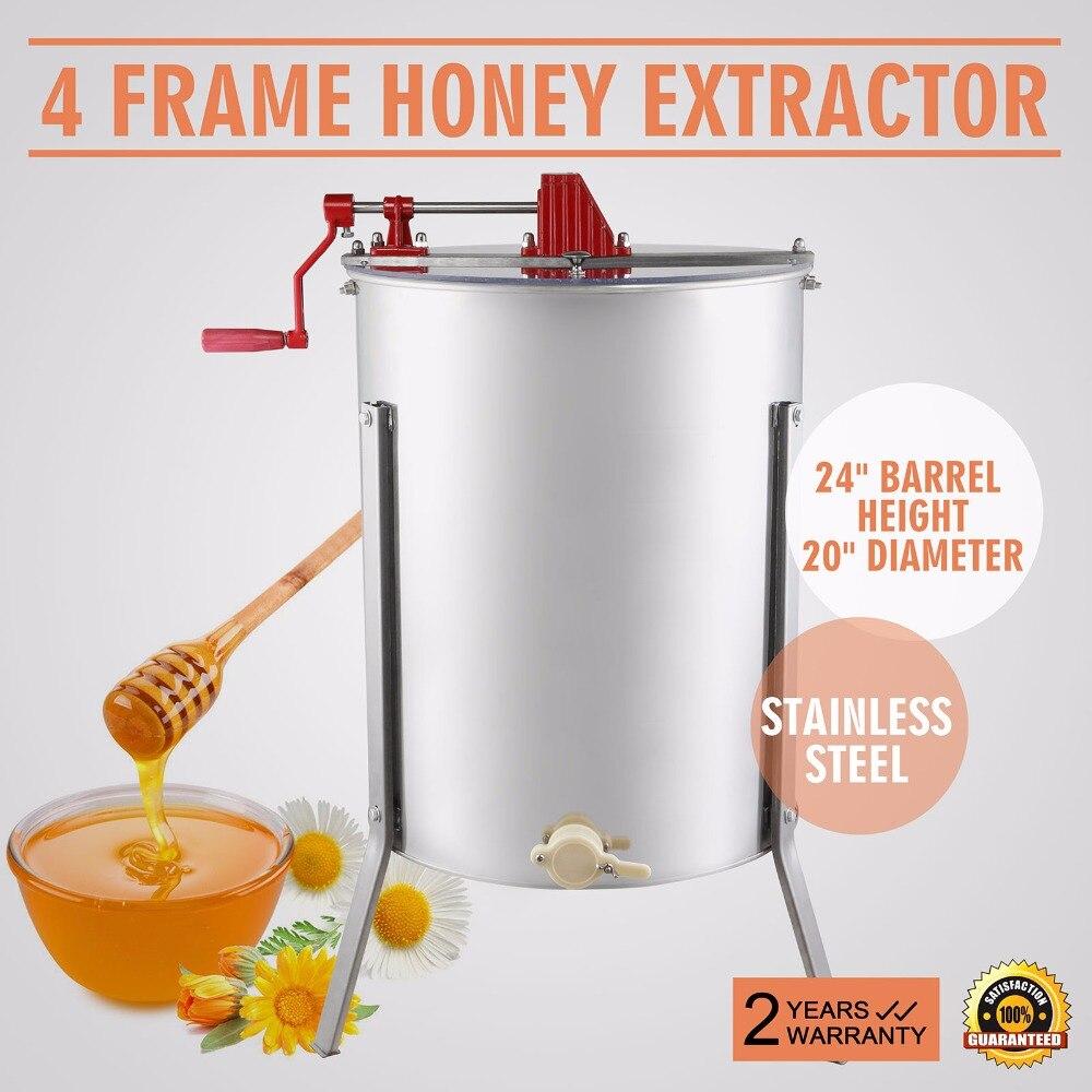 คู่มือน้ำผึ้ง EXTRACTOR ยี่ห้อใหม่ขนาดใหญ่ 4 กรอบสแตนเลสน้ำผึ้ง EXTRACTOR