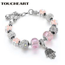 Браслеты toucheart амулет браслеты с розовыми бусинами из муранского