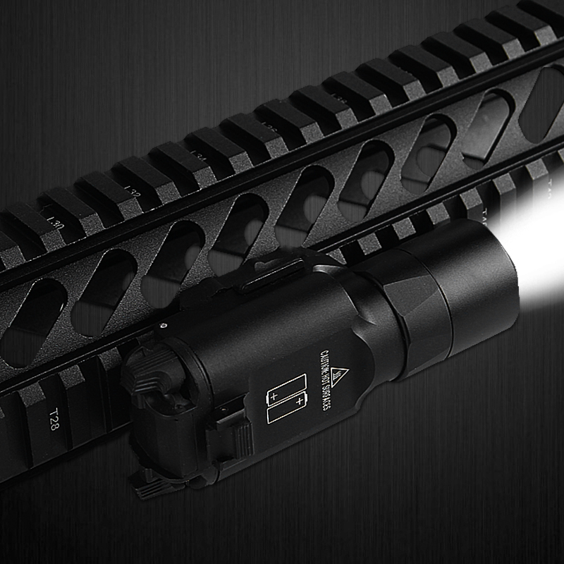 Tactical X300 Ultra Flashlight LED Weapon Pistol Gun Light with 20MM Picatinny Rail for Hunting Airsoft RL8-0003 hunting compact tactical green laser sight flashlight combo low profile pistol handgun light with 20mm picatinny rail