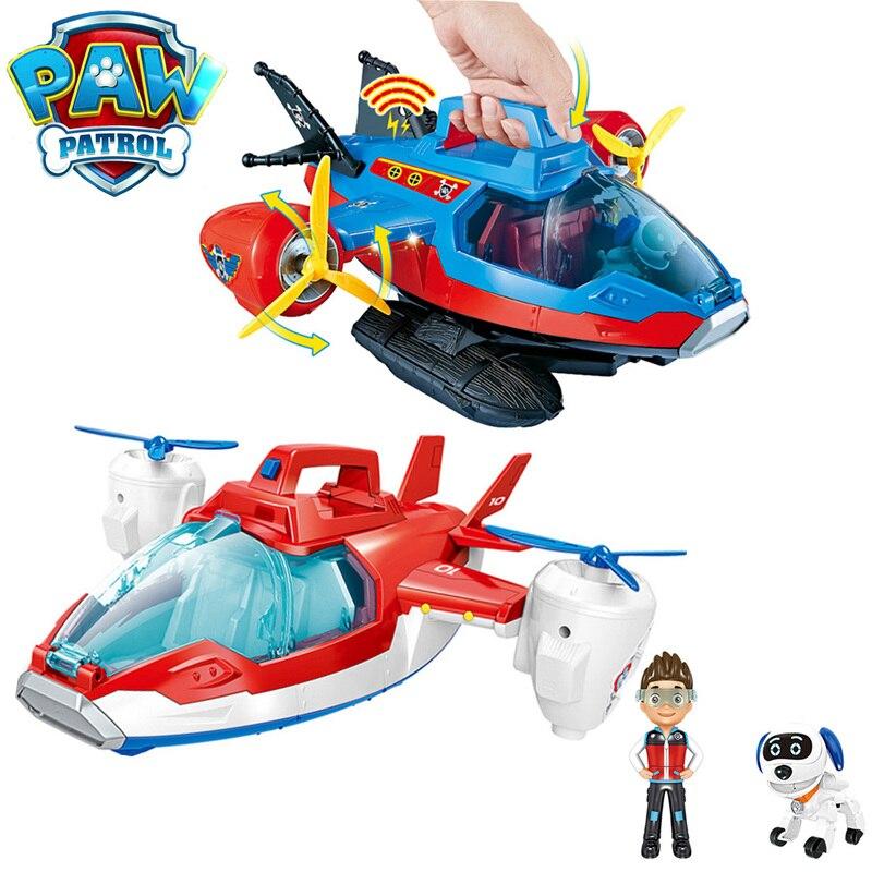 Pat' patrouille musique avion déformation hors-bord jouets Patrulla Canina Robot chien Ryder Action PVC Figure modèle enfants jouets amusants