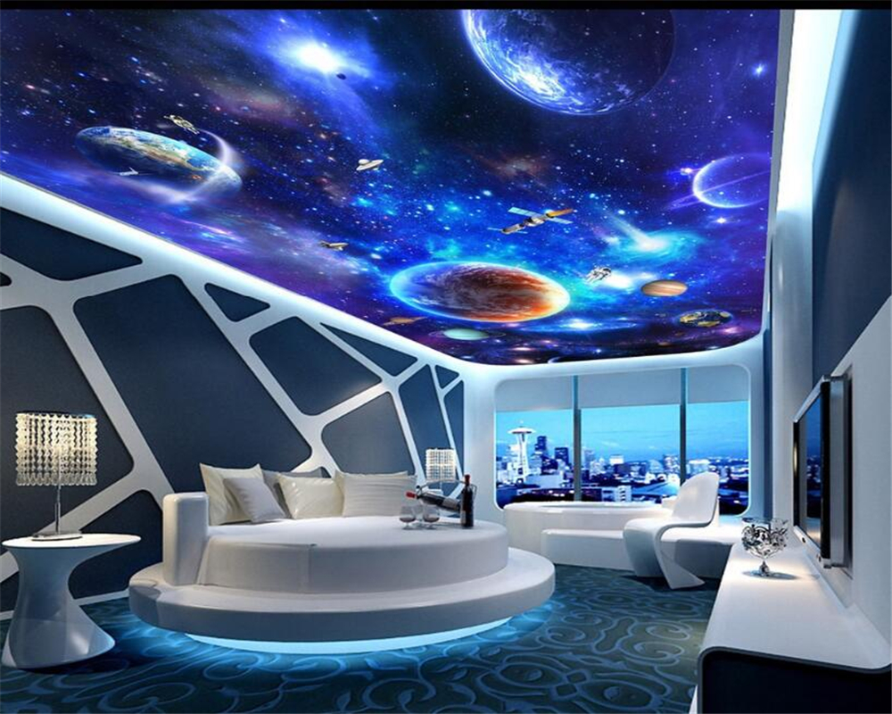 Beibehang star galaxy universe 3d floor tall tile tile painting beibehang star galaxy universe 3d floor tall tile tile painting bedroom bathroom 3d floor pvc non slip floor stickers photo in wallpapers from home dailygadgetfo Image collections