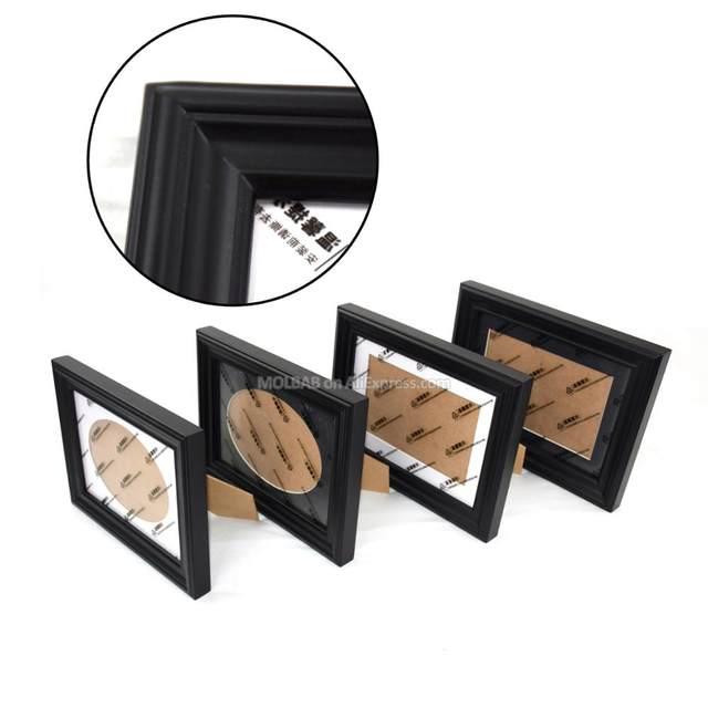 Online Shop MOLBAB 7X5 inch Tabletop Wood Black Photo Frame Wooden ...