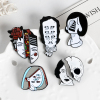 Halloween Split Face Lapel Pins 3