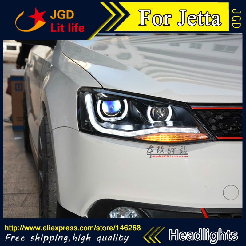 Free shipping ! Car styling LED HID Rio LED headlights Head Lamp case for VW Jetta 2011-2015 Bi-Xenon Lens low beam free shipping original 0258007227 17014 0258007351 0258007057 fits for 99 05 vw jetta 1 8l l4 oxygen sensor front upstream