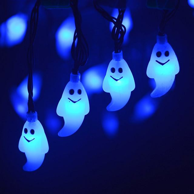 lumiparty halloween light outdoor solar string lights ghost 30led christmas lights outdoor halloween decoration outdoor