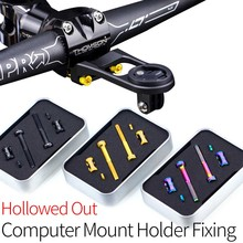 10.6g/set Hollowed Out Design Bicycle Computer Out-Mount Holeder Fixing Unit-SL For Garmin Mount Screws