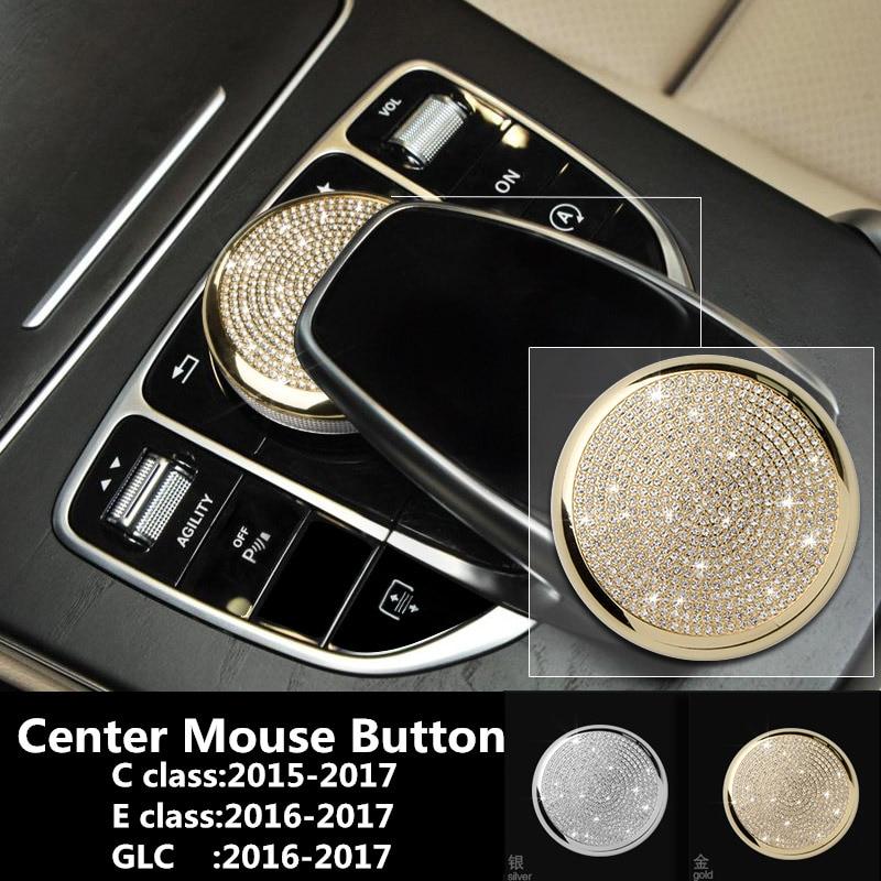 Center Mouse Button Car diamond Sticker Protective Film For Mercedes Benz C Class E Class W213 GLC Car Accessories Car Styling turbo for mercedes benz e class m class e270 ml270 w210 w163 99 om612 2 7l gt2256v 715910 715910 5002s 715910 0002 715910 0001