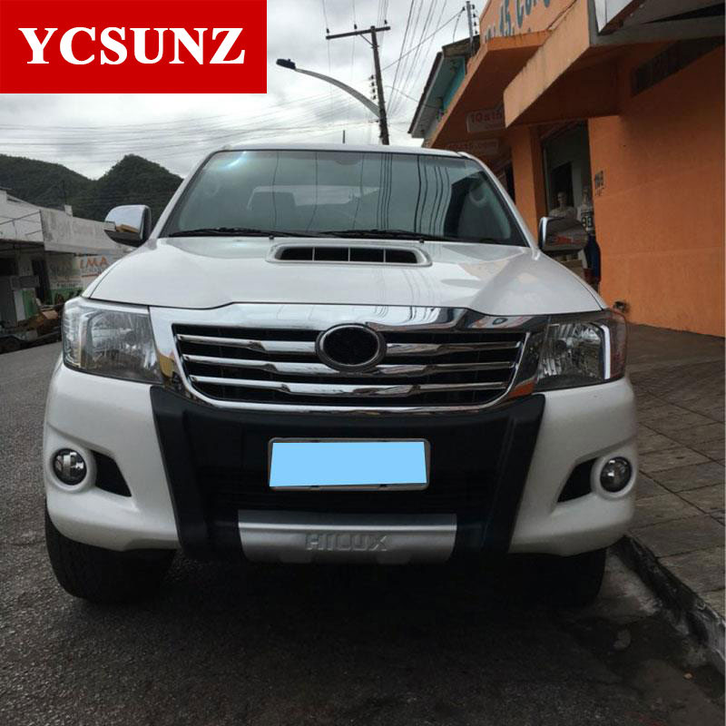 ABS Chrome Front Grill Cover For Toyota Hilux Vigo 2012 2013 2014 car styling For Toyota