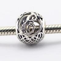 Se encaixa para a pulseira Pandora Charme letra E beads 925 sterling silver jóias DIY fazendo para mulheres 2016 primavera new atacado