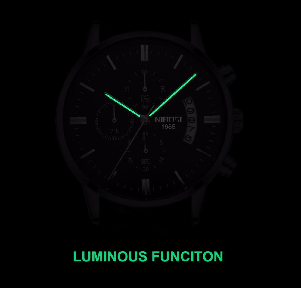 NIBOSI Relogio Masculino Men Watches Luxury Famous Top Brand Men's Fashion Casual Dress Watch Military Quartz Wristwatches Saat 6
