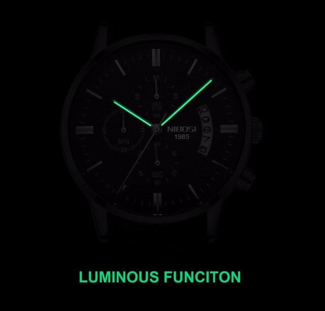 Relojes de hombre NIBOSI Relogio Masculino, relojes de pulsera de cuarzo de estilo informal de marca famosa de lujo para hombre, relojes de pulsera Saat 5