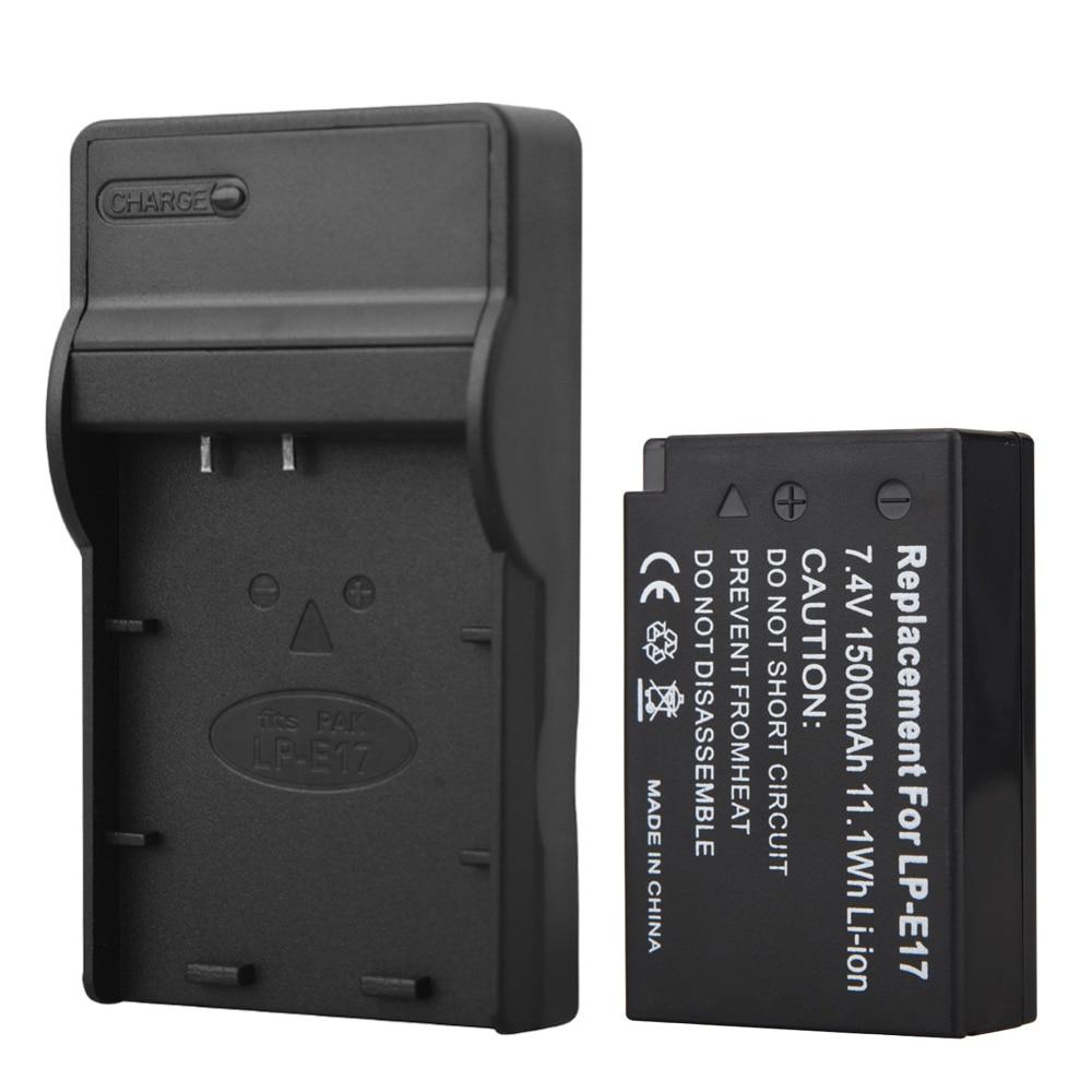 1pc 1500mAh LP-E17 LPE17 LP E17 Camera Battery + USB Charger For Canon EOS M3 M5 750D 760D T6i T6s 8000D Kiss X8i
