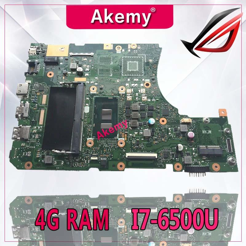 Akemy X556UA/X556UV Laptop motherboard for ASUS X556UA X556UV X556UAM X556UJ X556U X556 Test original mainboard 4G RAM I7-6500U