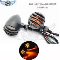 Universal Motorcycle Aluminum Turn Signal Light Black Housing 12 V Motorcycle Parts Flasher Indicator Light Black