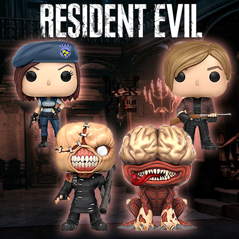 FUNKO POP Resident Evil NEMESIS JILL VALENTINE LICKER KENNEDY Pvc action figure collection model toys for