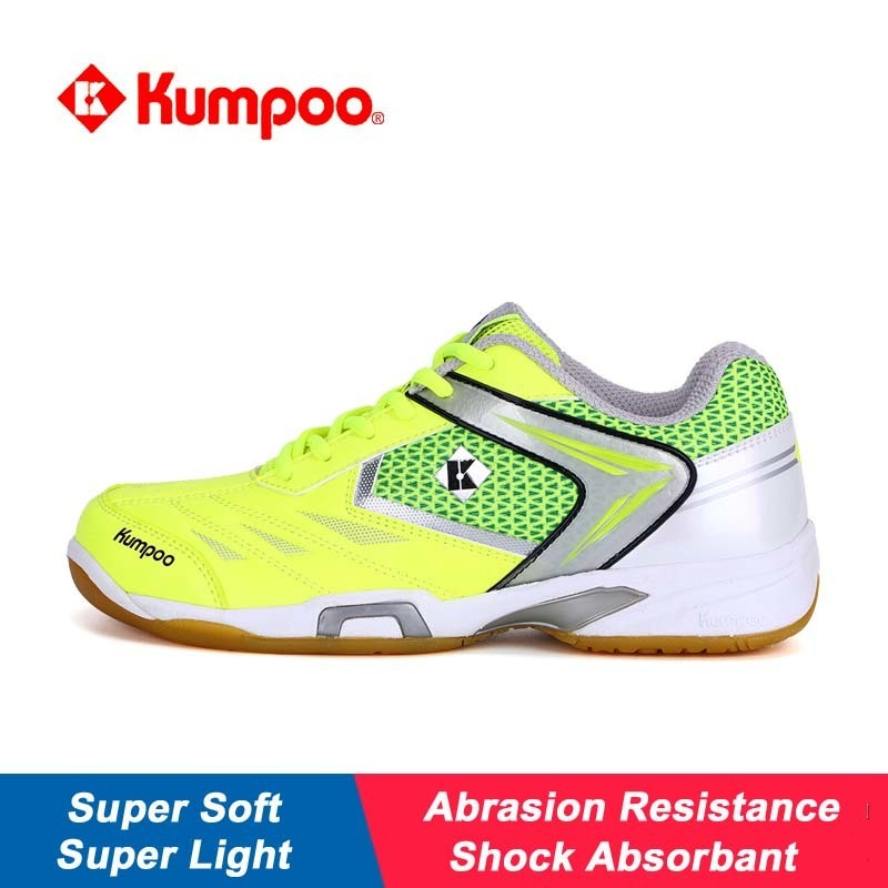 Kumpoo Sports Shoes Badminton For Men And Women Light And Soft Shock Absorption Non-slip New Pattern Training Sneakers KH56 L800 professional kumpoo unisex shoes badminton light cushioning comfortable sports sneakers for men and women breathable kh 205 l799