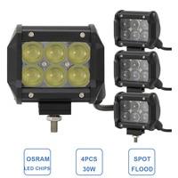30W Offroad LED Work Light Bar 12V 24V Car Truck Motorcycle ATV SUV UTE Fog Lamp