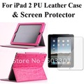 PU leather case for iPad2/3/4 +screen protector, Protective cover for iPad 2/3/4 & screen guard, for ipad handbag