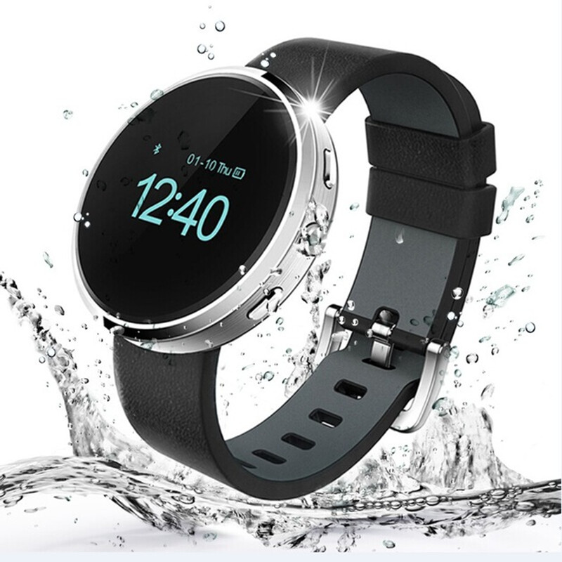 FineFun font b Smartwatch b font D360 2016 Newest Bluetooth Wristwatch Sync Pedometer Sleep Music Player