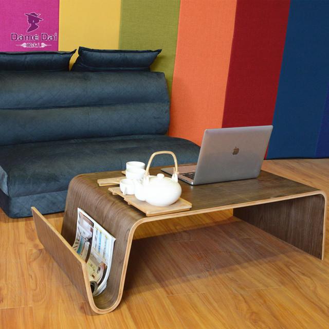 Meados Do Século Design Moderno Mesa de Café Para O Café Da Manhã, revista Mobília Da Sala Lateral Bentwood Final Chá Cama Mesa Para Laptop