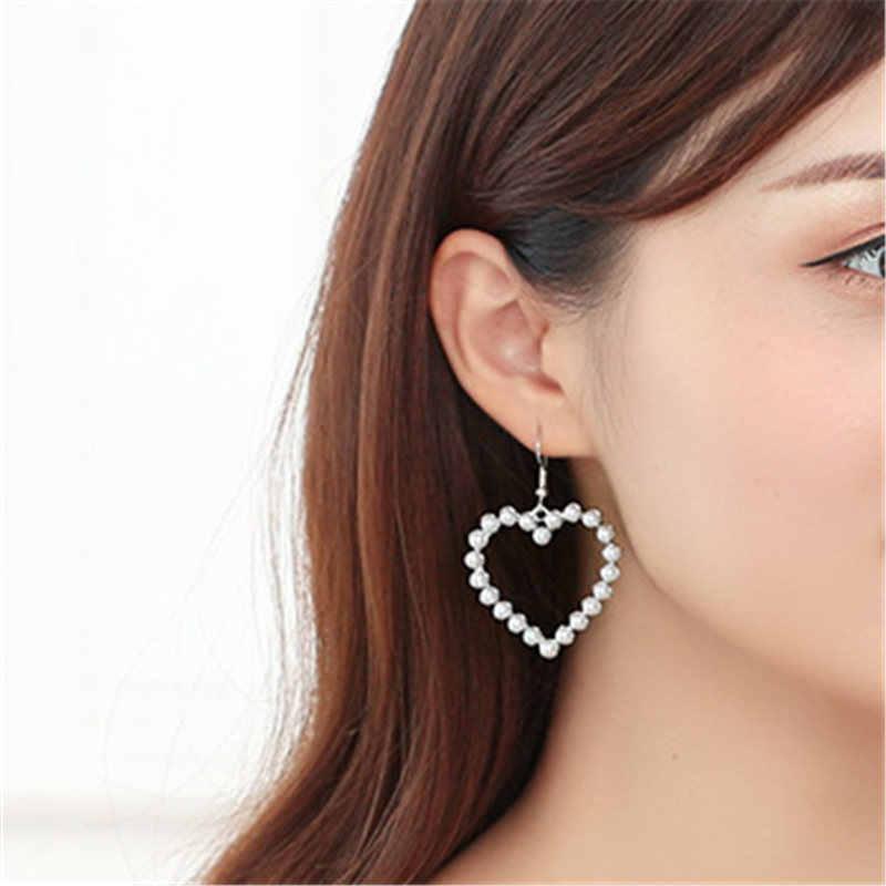 Korea Fashion Panjang Gradien Geometris Asimetri Berlian Imitasi Anting-Anting Lingkaran Baru Acrylic Anting-Anting untuk Pernikahan Pesta Hadiah untuk Wanita