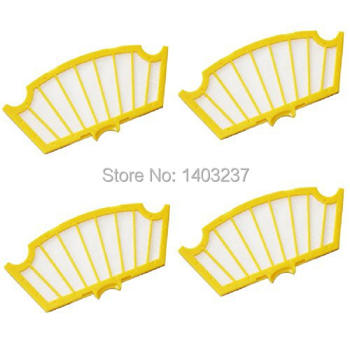 4 Filters for iRobot Roomba 500 Series 530 540 550 560 570 580 610 Vacuum Cleaner Accessory 3 filters 3 side brush 3 armed vacuum cleaner accessory kit for irobot roomba 500 series 530 540 550 560 570 580 610