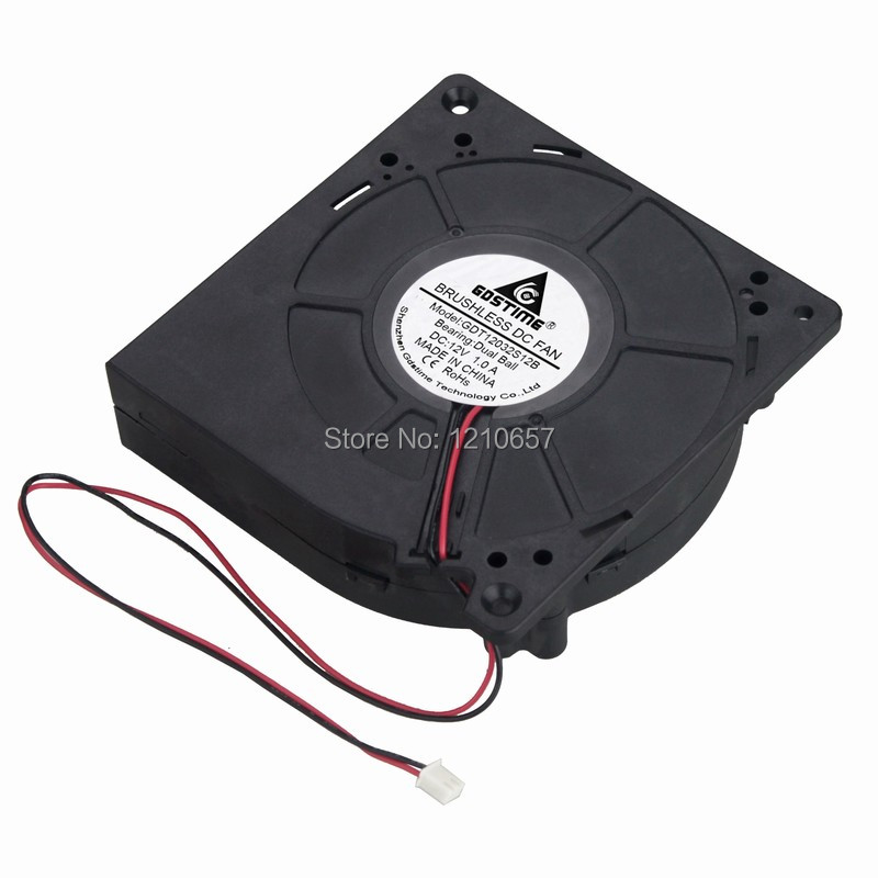 1PCS Gdstime DC 12032B 120mm 120x32mm 12V 2Pin Ball Bearing Brushless Blower Fan gdstime 10 pcs two ball bearing dc 12v 60x28mm blower fan 60mm x 28mm brushless cooling fan 2pin 6028 6cm heatsink radiator
