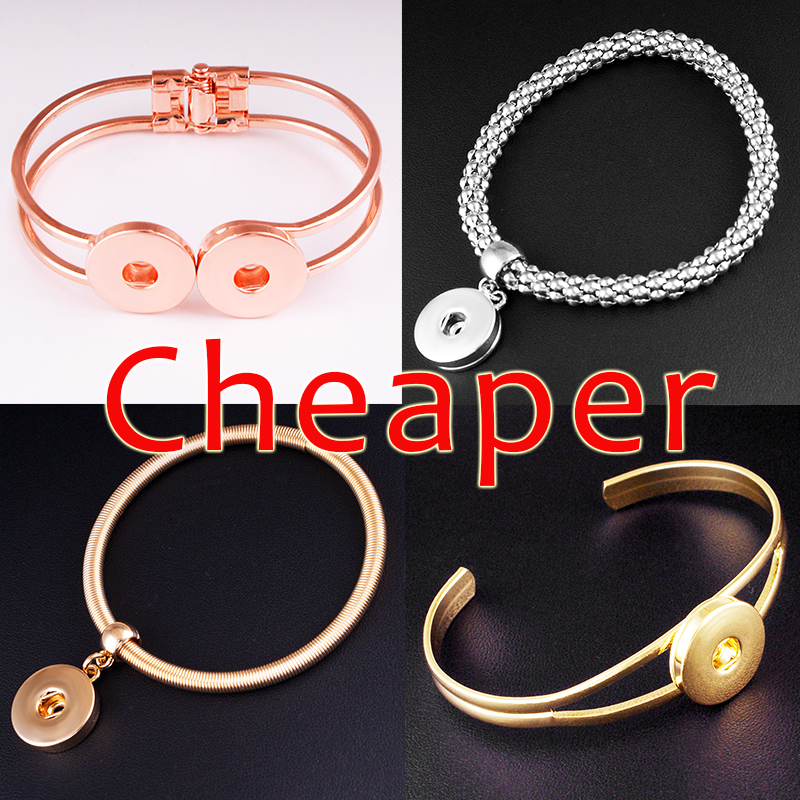 2015 new  leather bracelet  snap button jewelry  BR1739  (fit 18mm 20mm  snaps) snap button jewelry