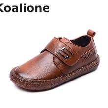 Kids Leather Shoes For Boys Wedding School Show Flats