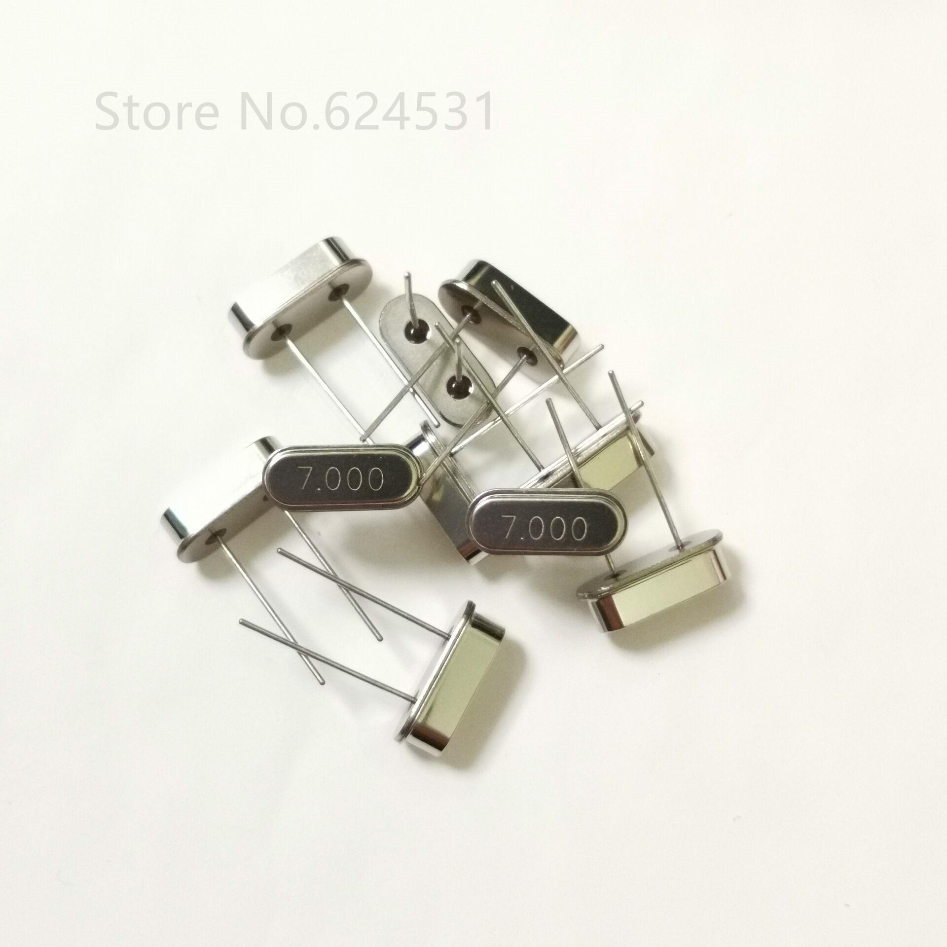 10pcs HC-49S Inline Passive Crystal Oscillator 7MHZ 7.000MHZ 7M Resonator