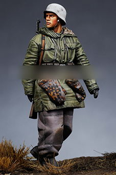 Tuskmodel 1 35 Scale Resin Model Figures Kit WW2 German Soldiers Winter In Model Building Kits